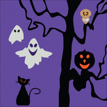 halloween  background  cute vector illustration Vector
