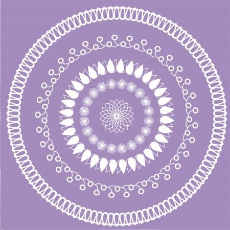 circular floral ornament, vector illustration