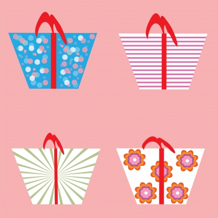 vector collection of gift boxes Illustration
