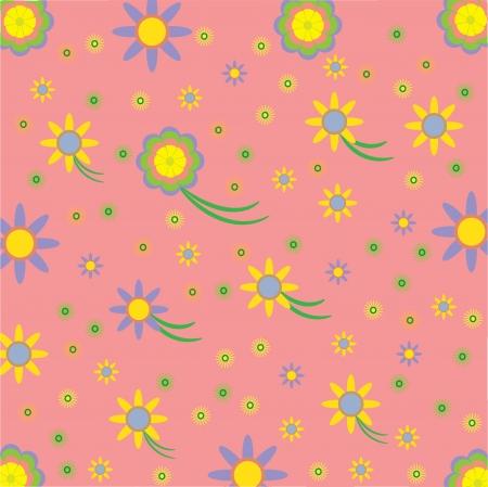 cute floral background, vector illustration  Illustration
