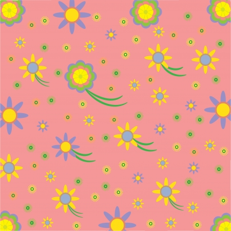 cute floral background, vector illustration  Illustration