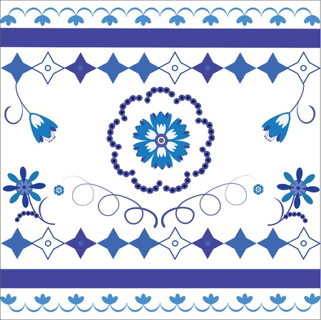 a picture or a background with a traditional Russian ornament  Gzhel   make Russian ceramics
