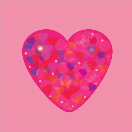 illustration of beautiful heart icon  Card for valentine