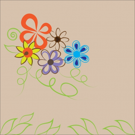 abstract floral background, graphic  illustration