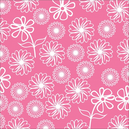 floral background, cute  illustration, hand drawing.