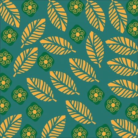 Yellow leaves backdrop, vector illustration.