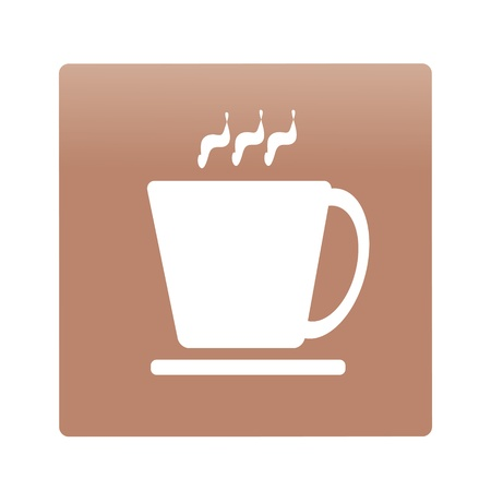 icon cup on a brown background, vector illustration