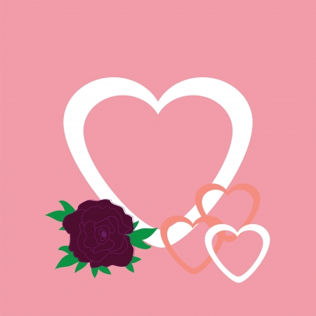 Vector illustration of beautiful heart icon  Card for valentine Stock Vector - 20929679