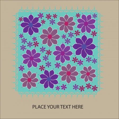 fantasy floral card, vector illustration