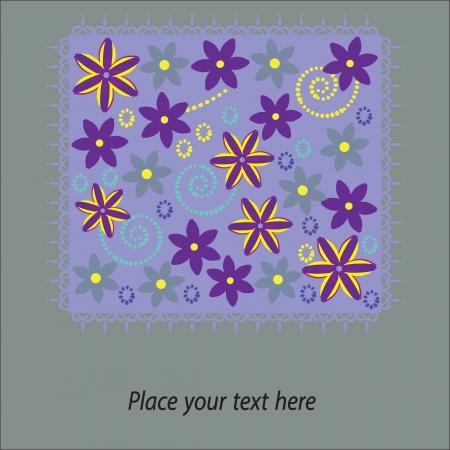 Cute floral card, vector illustration