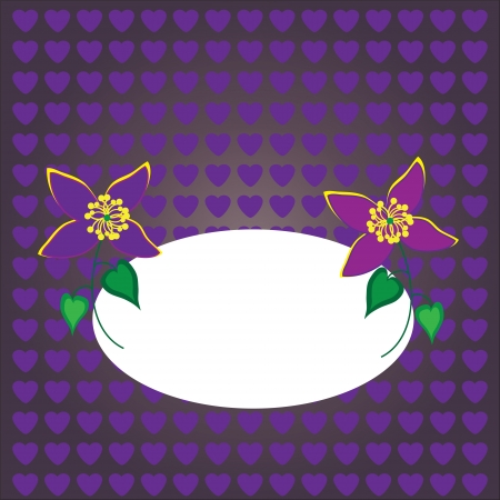 cute floral card or background, vector