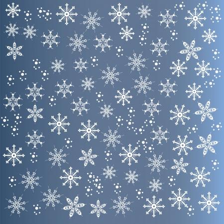 slush: Cute winter background of snowflakes, vector illustration