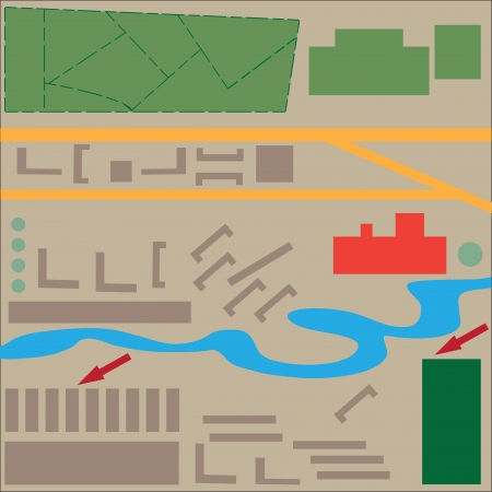 abstract map of the city to design, print Vector illustration