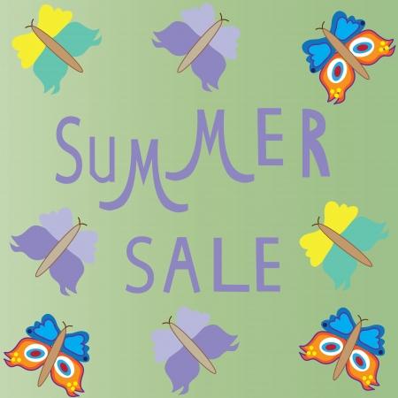 Summer sale template,  summer fashion sale,  summer sale icon Vector illustration