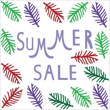 Summer sale template,  summer fashion sale,  summer sale icon  Vector illustration Illustration