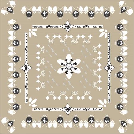unusual floral ornament for design,