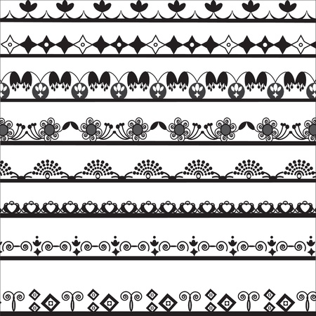 collection of different lace for design  Illustration