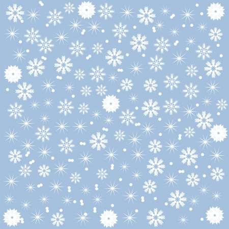 winter background of beautiful snowflakes