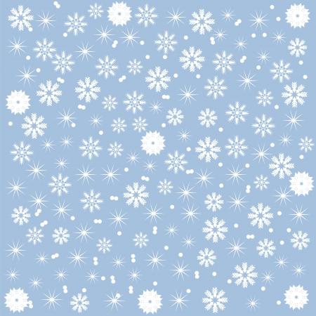 slush: winter background of beautiful snowflakes