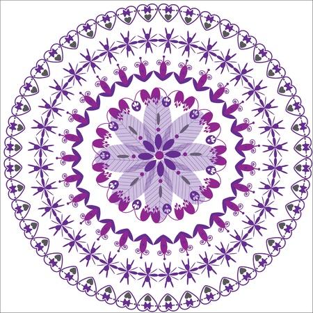 package printing: circular floral ornament, cute illustration Illustration