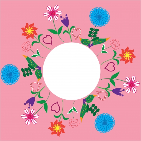 floral frame for greetings, invitations, greeting cards,  illustration