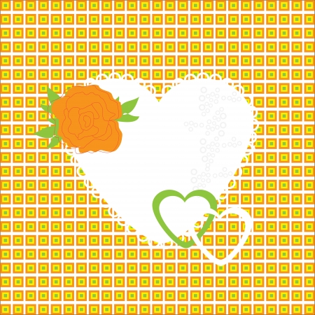 beautifully: Vector illustration of beautiful heart icon. Card for valentines day, invitation or congratulation, vector