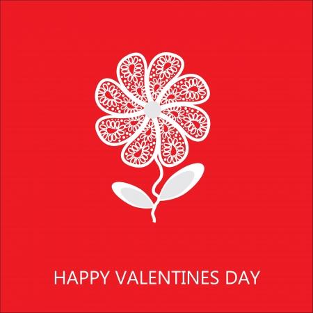 Elegant flower greetings Happy Valentine's Day Stock Vector - 21894986