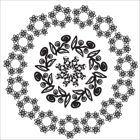 Circular pattern  for a variety of purposes, isolated, vector Illustration