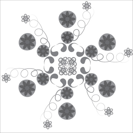 package printing: Circular pattern  for a variety of purposes, isolated, vector, design element