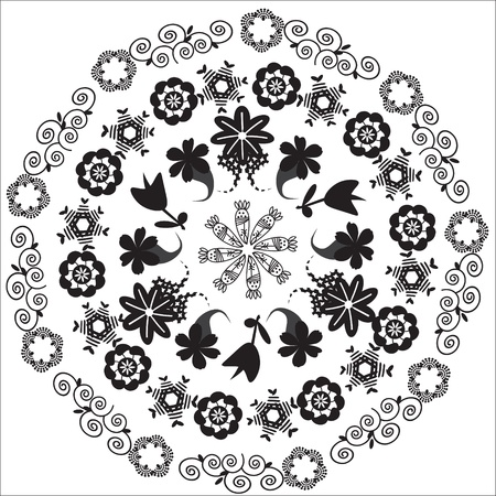 package printing: Circular pattern  for a variety of purposes, isolated, vector   Illustration