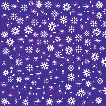 Bright  and cute  Christmas background with snowflakes for design, vector   Illustration