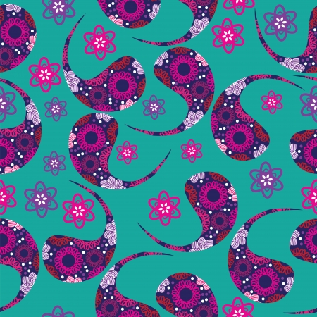 Paisley seamless pattern (pattern Booth).    Vector