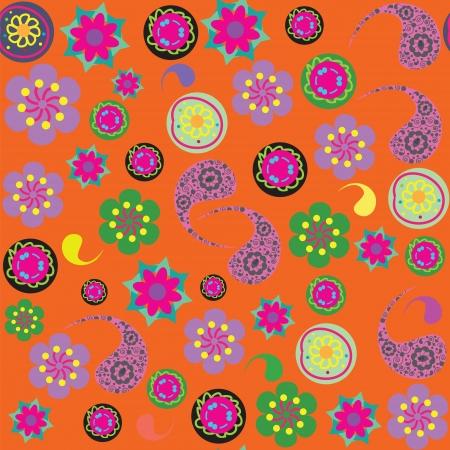 zypresse: Paisley nahtlose Muster