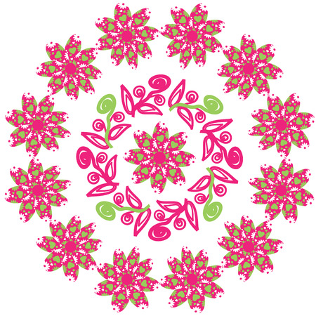 package printing: Vector circular pattern. The circular pattern is used to design dishes, clothes, and other purposes