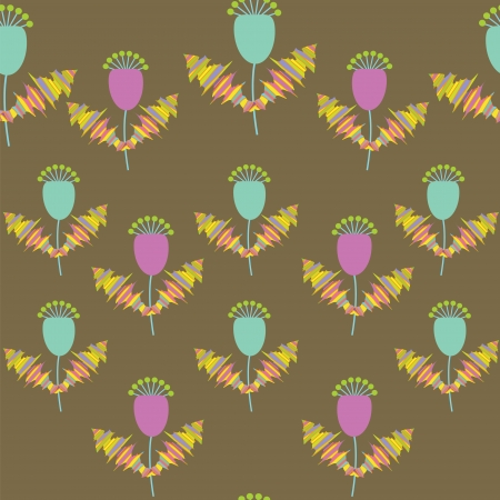 Cute vector  floral seamless pattern, and seamless pattern in swatch menu.