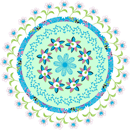 Circular pattern in pretty delicate colors for different design, vector Vector