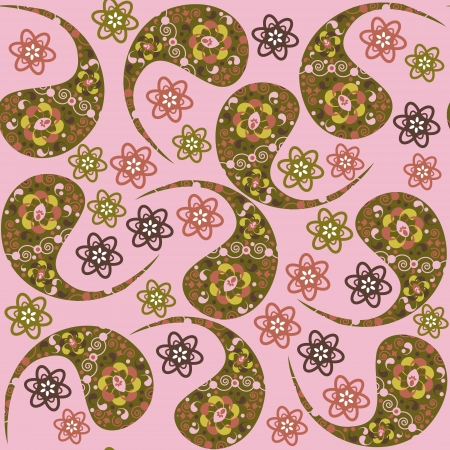 Turkish cucumber seamless pattern
