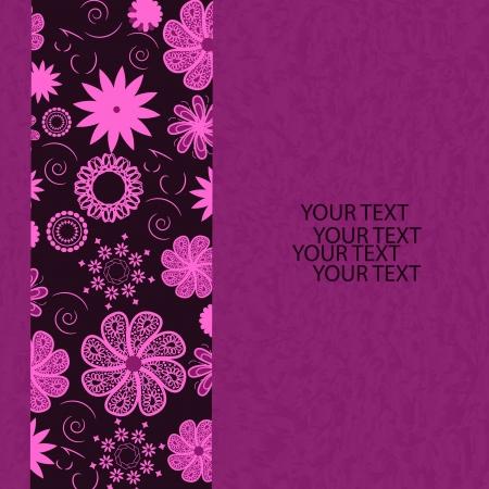 thriving: Floral invitation card