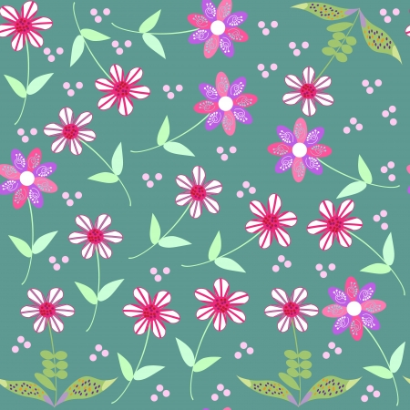Vector floral seamless pattern and seamless pattern
