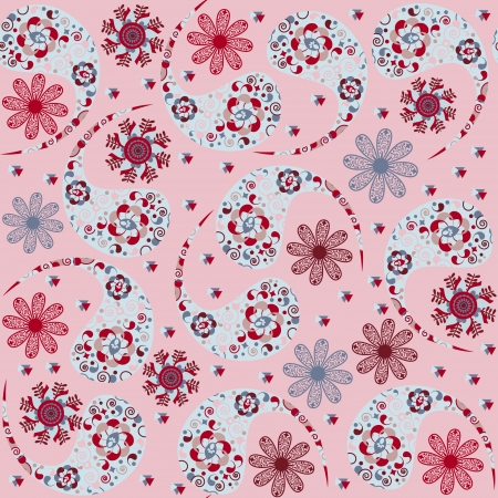 Vector Paisley seamless pattern and seamless pattern