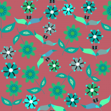 Seamless floral pattern  and seamless pattern in swatch menu. Seamless pattern can be use for fabric design, tableware, packaging, posters, and other purposes, vector