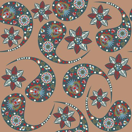 zypresse: Vector Paisley nahtlose Muster und nahtlose Muster in Swatch-Men�. Paisley nahtlose Muster (orientalisches Muster) kann f�r Tapeten, Kleidung, Geschirr, Verpackungen, Plakate und andere Zwecke verwendet werden.