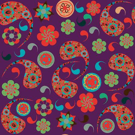 zypresse: Paisley seamless pattern und nahtlose Muster in Swatch-Men�, Vektor-Illustration