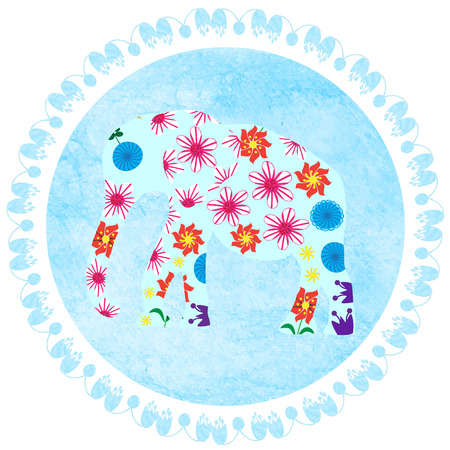 elephant on watercolor background Stock Photo
