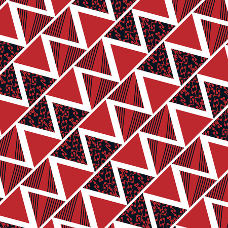 Geometric triangle red background, vector illustration Illustration