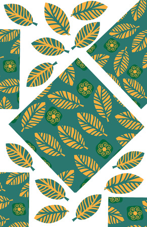 Odd geometric and floral background for design shirts, clothes, apparel, dishes  and other purposes, vector illustration