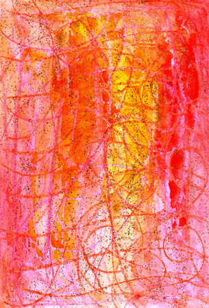 handcrafted: Colorful orange and yellow  watercolor shine swirl  handcrafted   backdrop