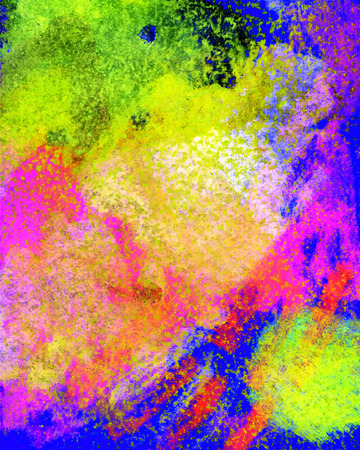 encaustic: The encaustic backdrop  is drawn with wax crayons, colorful image for print and web Stock Photo