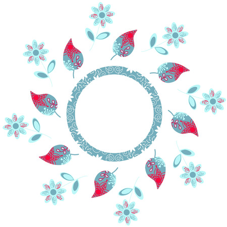 elegance: Elegance round floral pattern, vector illustration
