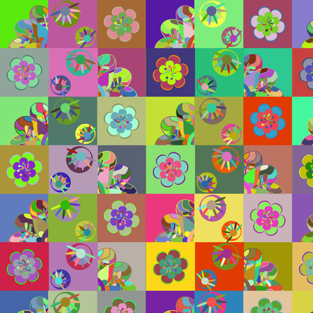 patchwork background: Fantasy abstract patchwork background, vector illustration Illustration